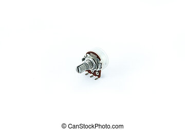 Variable resistor - Variable resistor on a white background....