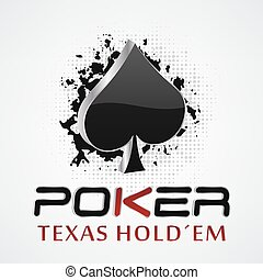Poker background with card symbol - Poker vector...
