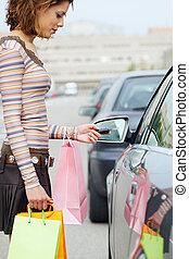 袋, 女, 買い物