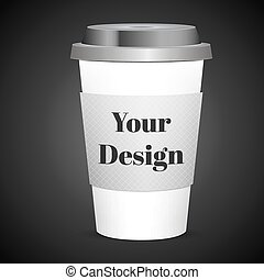 Disposable coffee cup isolated. Vector illustration - Coffee...