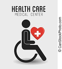 Medical design, vector illustration - Medical design over...