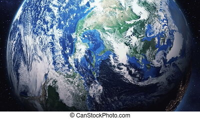 zoom into earth from space