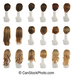 Hair wig over the mannequin head set - Hair wig over the...