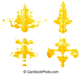 Symmetric paint blot - Symmetric abstract paint blot as in a...