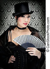 Victorian Girl - Beautiful Asian Girl Dressed In A Victorian...