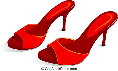 Red stiletto shoes - An elegant pair of womans red stiletto...