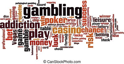 Gambling word cloud concept Vector illustration