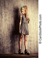 fanciful - Sexual blonde girl with fascinating dreadlocks...
