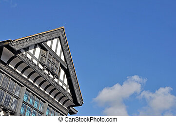 Old Black and White Buildings in Chester England - Old Black...
