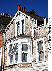 Terraced House Cladding - Victorian terraced town houses in...