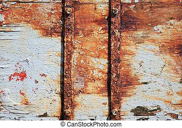 rdza, drewno, Poduszeczka, tło,