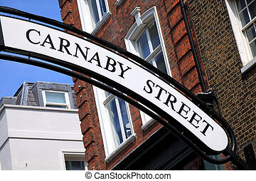 Carnaby Street Sign - Carnaby Street sign in London's...