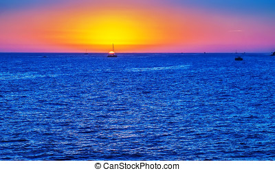 Cabo San Lucas - Sunset along the Sea of Cortez in Cabo San...