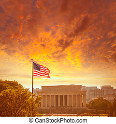 Abraham Lincoln Memorial building Washington DC - Abraham...