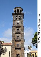 Tower of Iglesia de La Concepcion in La Laguna, Tenerife...