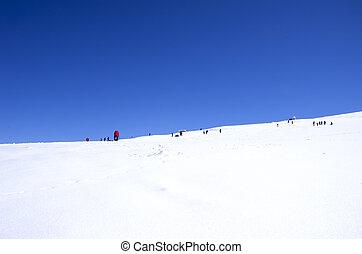 winter mountains in Sierra nevada, Spain