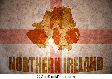 vintage northern ireland map - northern ireland map on a...