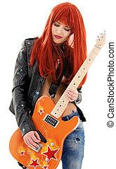 guitarra, bebé