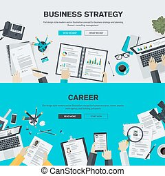 Flat design concepts for business - Flat design illustration...