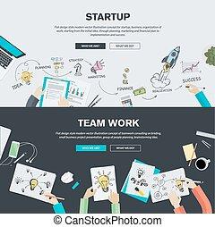 Flat design concepts for business - Flat design illustration...