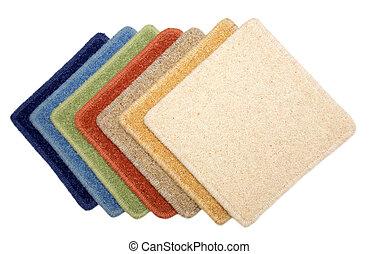 Samples of carpet