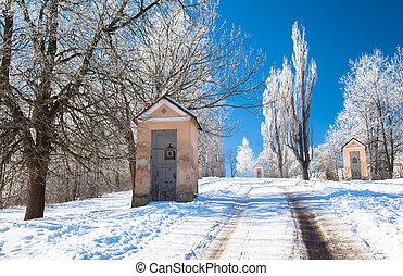 Calvary at town Ruzomberok, Slovakia