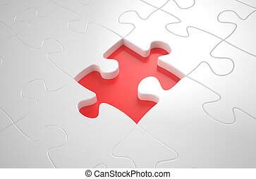 succes concept, white puzzlebackground