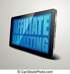 tablet Affiliate Marketing - detailed illustration of a...