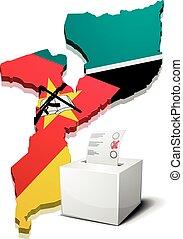 ballotbox Mozambique - detailed illustration of a ballotbox...