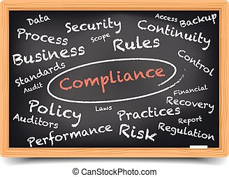 Blackboard Compliance - detailed illustration of a...