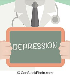 Medical Board Depression - minimalistic illustration of a...