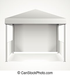 Canopy Tent - detailed illustration of blank canopy tent,...
