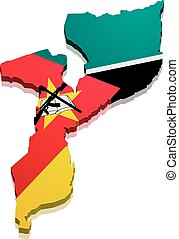 Map Mozambique - detailed illustration of a map of...