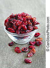 Bowl of dried cranberries