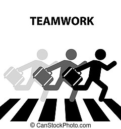 teamwork crosswalk design, vector illustration eps10 graphic...
