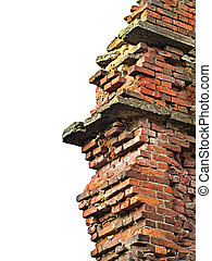 Brick wall remains - Grungy background with remains of...