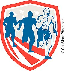 American Crossfit Runners USA Flag Retro