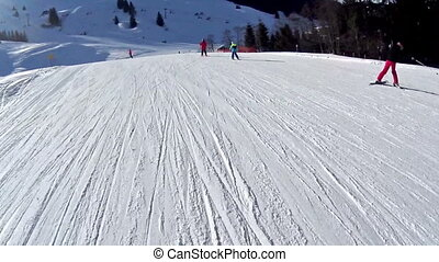 Winter Alpine Ski Resort