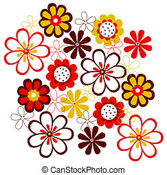 flower pattern - a vivid illustration of nice flower pattern...