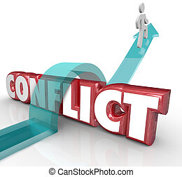 Avoid Conflict Arrow Over Word No Confrtonation Battle...