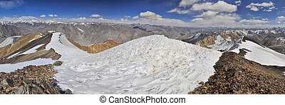 Pamir in Tajikistan - Scenic panorama of Pamir mountains in...