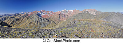 Ala Archa in Kyrgyzstan - Scenic panorama of highest...