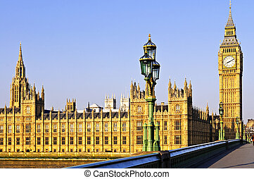 Palace of Westminster from bridge - Houses of Parliament...