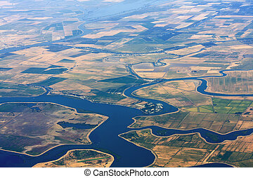 Agriculture Aerial View - Aerial view of agriculture land...