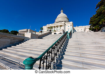 Capitol building Washington DC sunlight day USA US congress