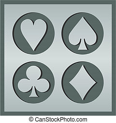Poker card icons