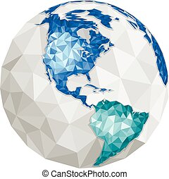 Earth - North and South America - Earth - Modern elements of...