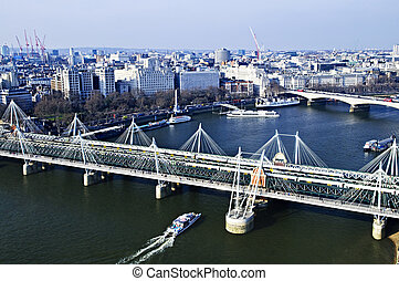 Hungerford Bridge seen from London Eye - Hungerford bridge...