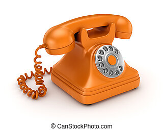 3d rendered retro telephone. - 3d rendered retro telephone...