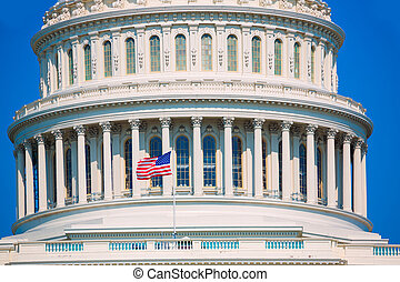 Capitol building Washington DC american flag USA